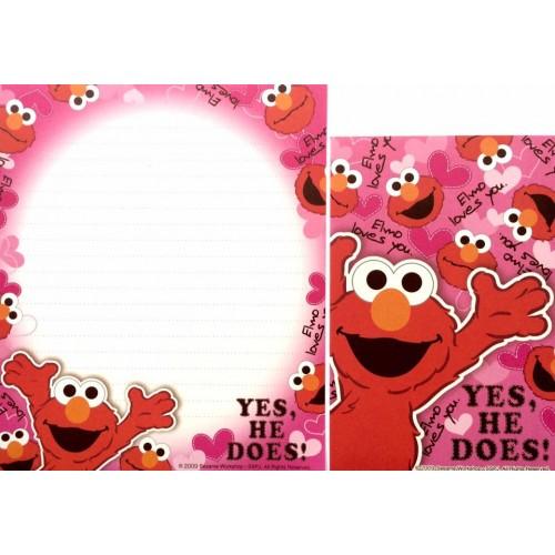 Conjunto de Papel de Carta IMPORTADO Sesame Street 21