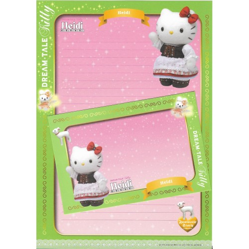 Ano 2004. Papel de Carta DREAM TALE Kitty - Heidi - Sanrio