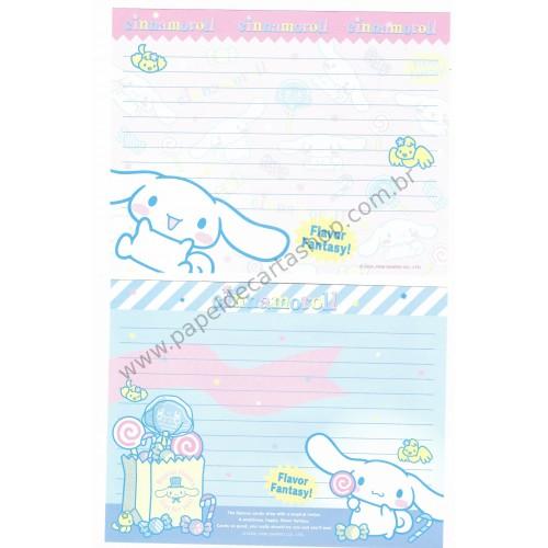 Ano 2006. Conjunto de Papel de Carta Cinnamoroll Flavor Fantasy Sanrio