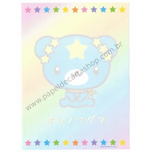 Ano 2002. Kit com 3 Papéis de Carta Hoshinowaguma Sanrio