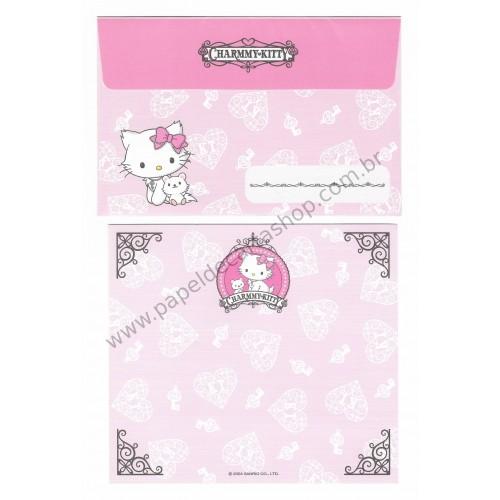 Ano 2004. Conjunto de Papel de Carta Charmmy Kitty Sanrio