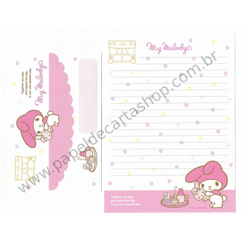Ano 2011. Conjunto de Papel de Carta My Melody Butterflies Br Sanrio