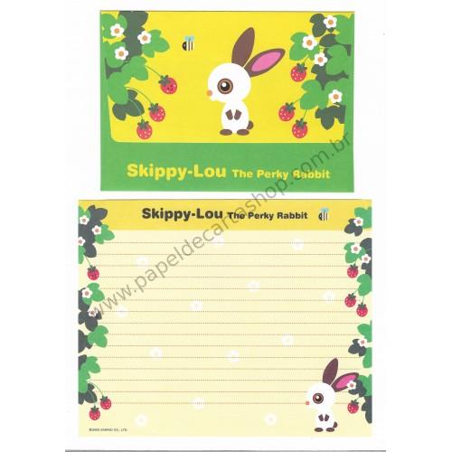 Ano 2002. Conjunto de Papel de Carta Skippy-Lou Sanrio
