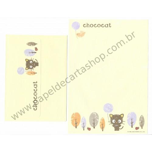 Ano 2005. Conjunto de Papel de Carta CHOCOCAT (AM 02) Sanrio