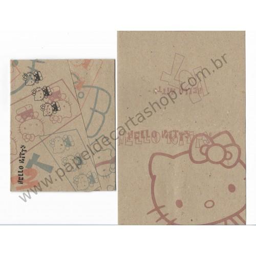 Ano 1996. Conjunto de Papel de Carta Hello Kitty Kraft Antigo (vintage) Sanrio