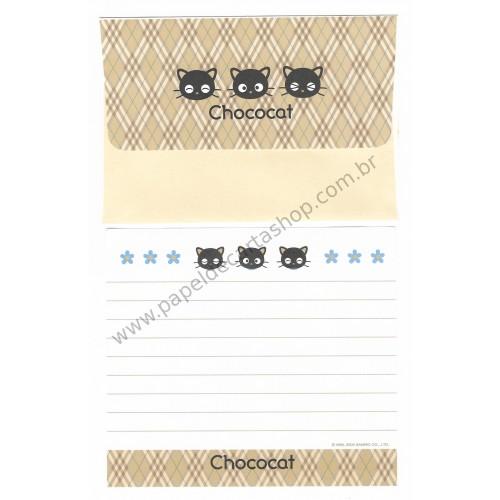 Ano 2000. Conjunto de Papel de Carta Chococat Dupla 2 Antigo (Vintage) Sanrio