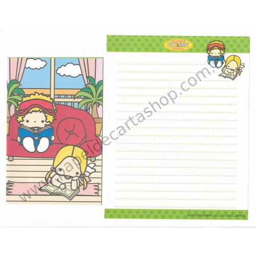 Ano 2003. Conjunto de Papel de Carta Patty & Jimmy VD Sanrio