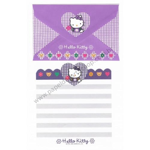 Ano 1994. Kit 4 Conjuntos de Papéis de Carta Hello Kitty Antigo (Vintage) Sanrio