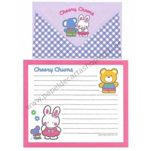 Ano 1995. Conjunto de Papel de Carta Cheery Chums CLL Sanrio