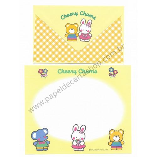 Ano 1995. Conjunto de Papel de Carta Cheery Chums CAM Sanrio