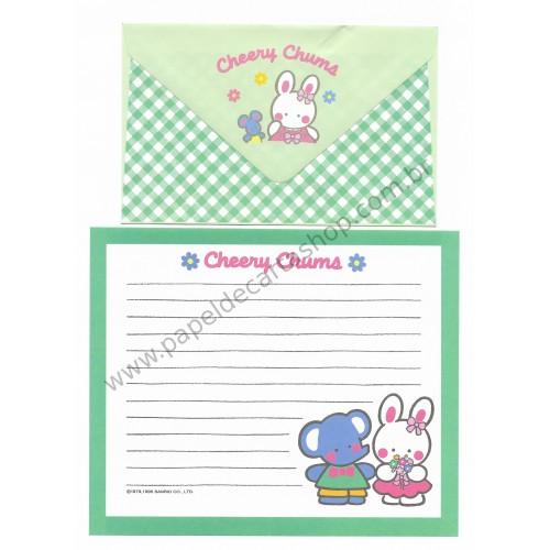 Ano 1995. Conjunto de Papel de Carta Cheery Chums CVD Sanrio