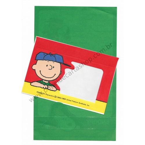 Conjunto de Papel de Carta Peanuts CVD Vintage Japan