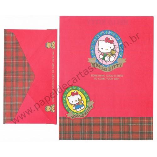 Ano 1993. Conjunto de Papel de Carta Hello Kitty Antigo VM (Vintage) Sanrio