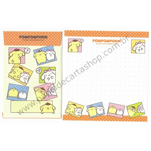 Ano 2014. Kit 3 Conjuntos de Papel de Carta PomPomPurin Sanrio