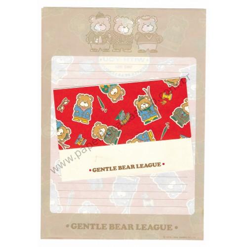 Ano 1984. Conjunto de Papel de Carta Gentle Bear League VM Sanrio