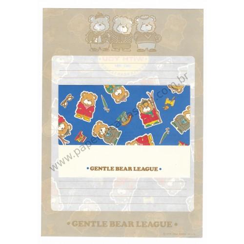 Ano 1984. Conjunto de Papel de Carta Gentle Bear League AZ Sanrio