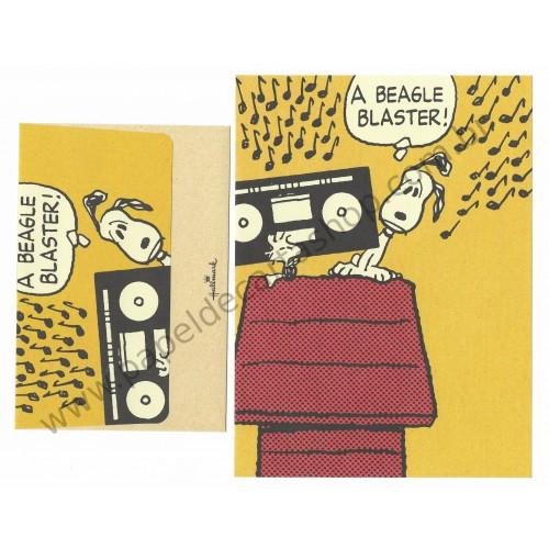 Conjunto de Papel de Carta Snoopy A Beagle Blaster Peanuts Hallmark