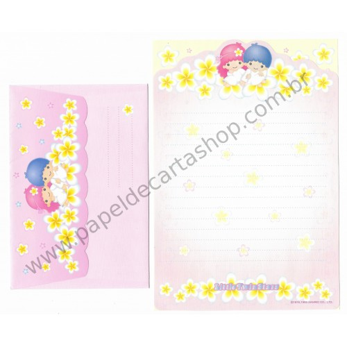 Ano 1999. Conjunto de Papel de Carta Little Twin Stars Dupla RA Sanrio