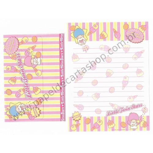 Ano 2003. Conjunto de Papel de Carta Little Twin Stars Dreamy Sweet Sanrio