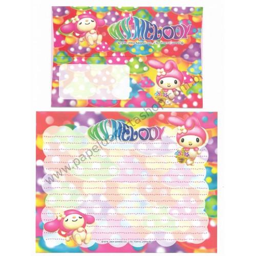 Ano 2004. Conjunto de Papel de Carta My Melody Sanrio Japão