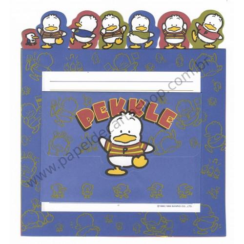 Ano 1995. Kit 3 Conjuntos de Papel de Carta Pekkle Q Vintage Sanrio