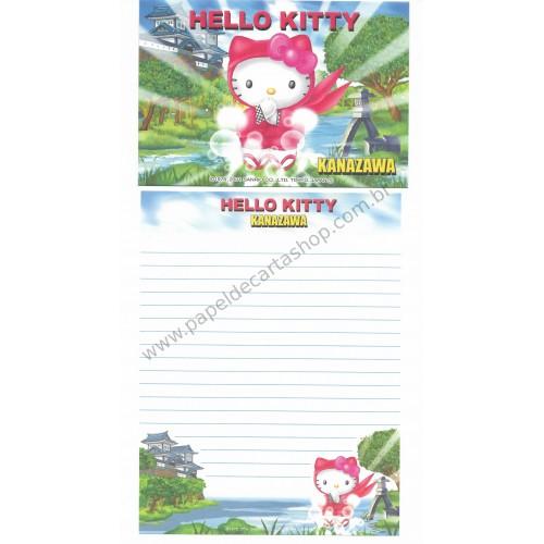 Ano 2001. Conjunto de Papel de Carta Gotōchi Kitty Kanazawa Sanrio