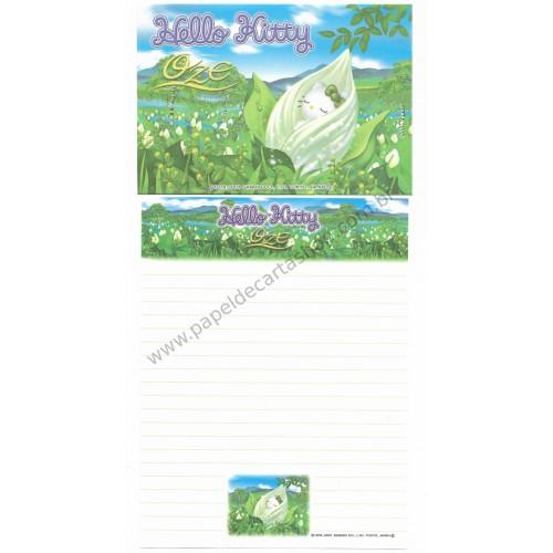 Ano 2001. Conjunto de Papel de Carta Gotōchi Kitty Oze Sanrio