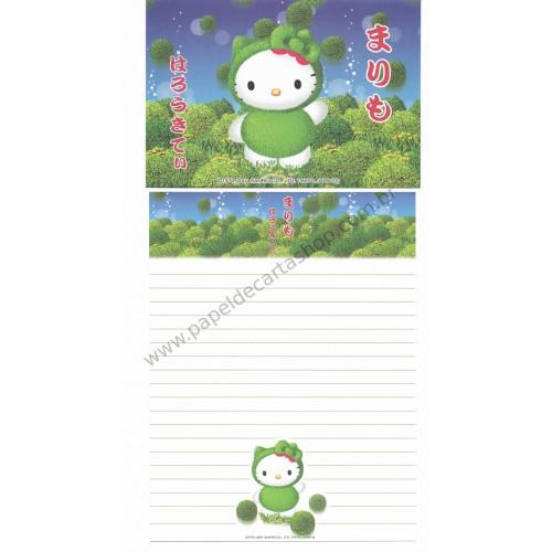 Ano 2001. Conjunto de Papel de Carta Gotōchi Kitty Regional 02 Sanrio