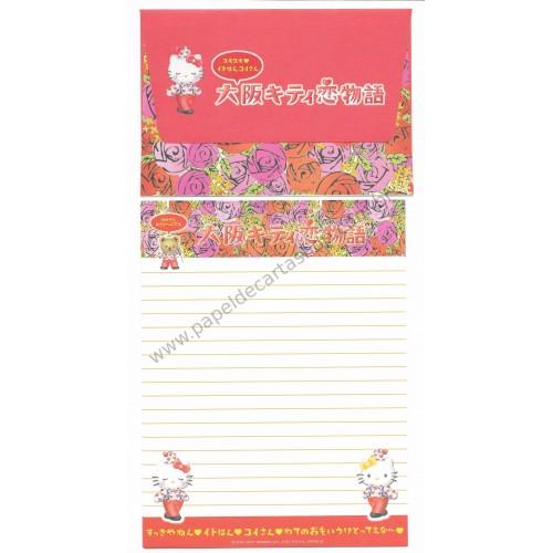 Ano 2001. Conjunto de Papel de Carta Gotōchi Kitty Clown II Sanrio