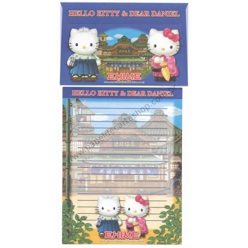Ano 2002. Conjunto de Papel de Carta Gotōchi Kitty Ehime Sanrio