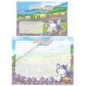 Ano 2003. Conjunto de Papel de Carta GOTŌCHI Kitty Lavander 2 Sanrio