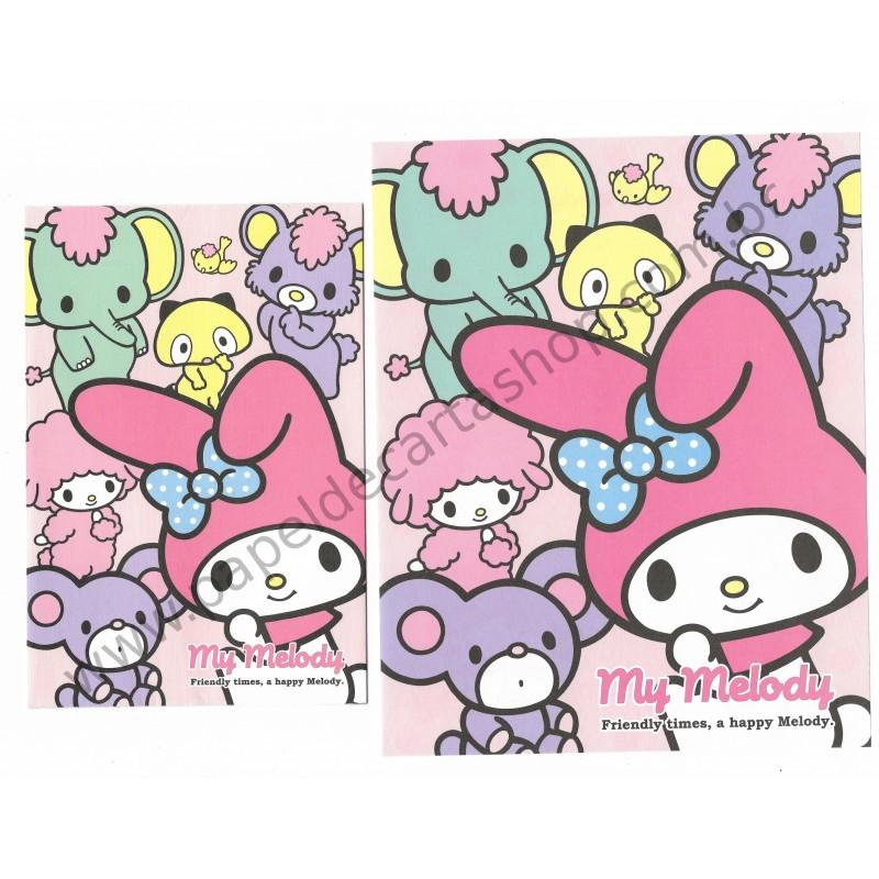 Ano 2014. Conjunto de Papel de Carta My Melody A Happy Melody Sanrio