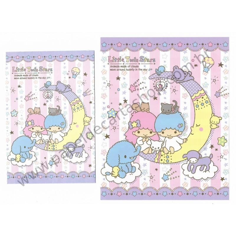 Ano 2013. Conjunto de Papel de Carta Little Twin Stars Animal Made of Clouds Sanrio