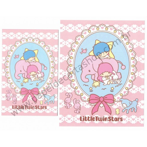 Ano 2007. Conjunto de Papel de Carta Little Twin Stars RS Sanrio