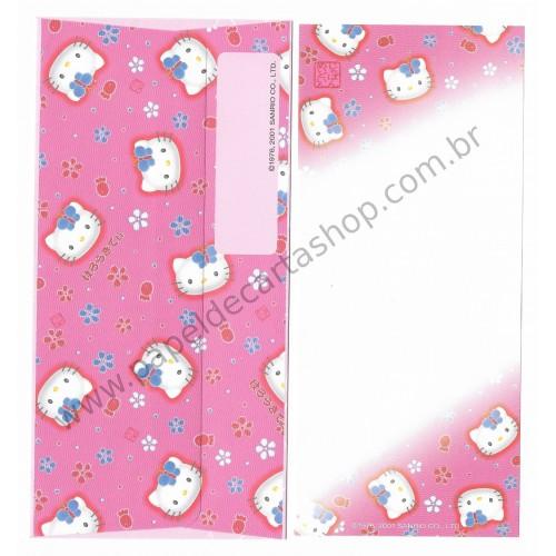 Ano 2001. Kit 2 Conjuntos de Papel de Carta Hello Kitty Regional Japão Rs Sanrio