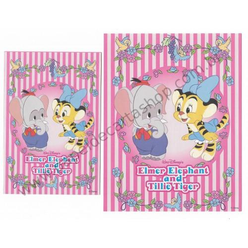 Conjunto de Papel de Carta Disney Elmer Elephant & Tillie Tiger