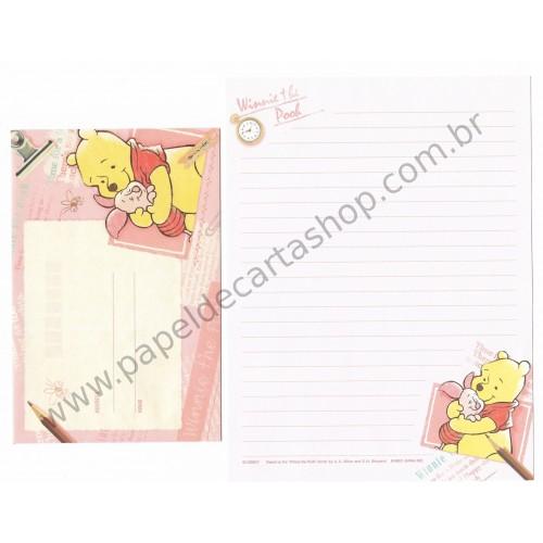 Conjunto de Papel de Carta Importado Disney Winnie the Pooh (RS)