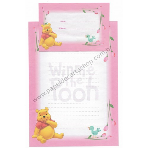 Conjunto de Papel de Carta Antigo VINTAGE Disney F1 - POOH (RS)
