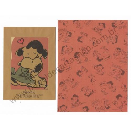 Conjunto de Papel de Carta Kraft Snoopy and Lucy - Peanuts
