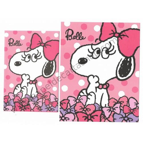 Conjunto de Papel de Carta Peanuts with Belle - Peanuts