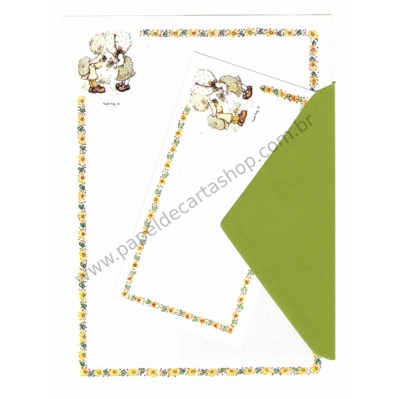 Conjunto de Papel de Carta Importado Sarah Kay 01