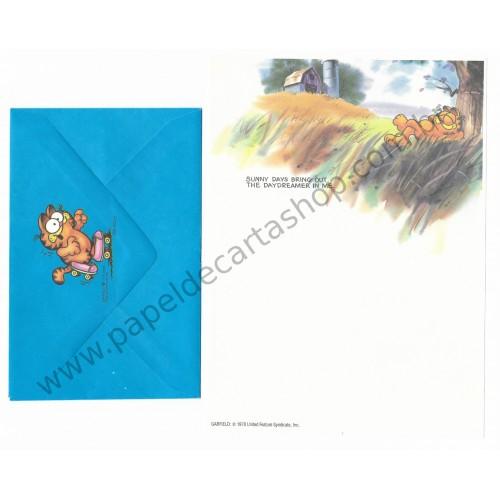 Conjunto de Papel de Carta Garfield Sunny Days - Paws