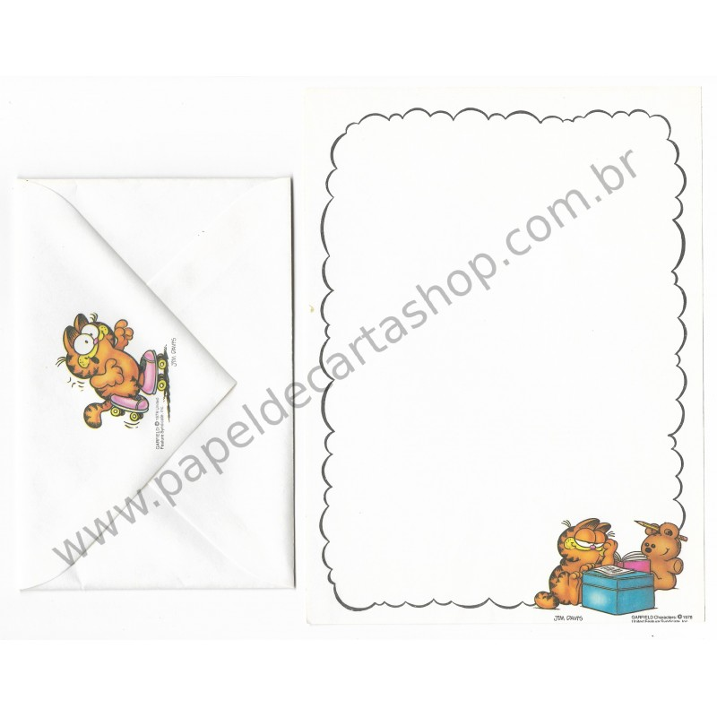 Conjunto de Papel de Carta Garfield Studying With Friends - Paws