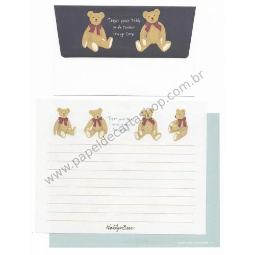 Ano 1995. Conjunto de Papel de Carta Holly's Bear Antigo (Vintage) Sanrio