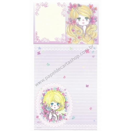 Conjunto de Papel de Carta com envelope ADO MIZUMORI 0012