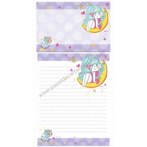 Conjunto de Papel de Carta com envelope ADO MIZUMORI 0017
