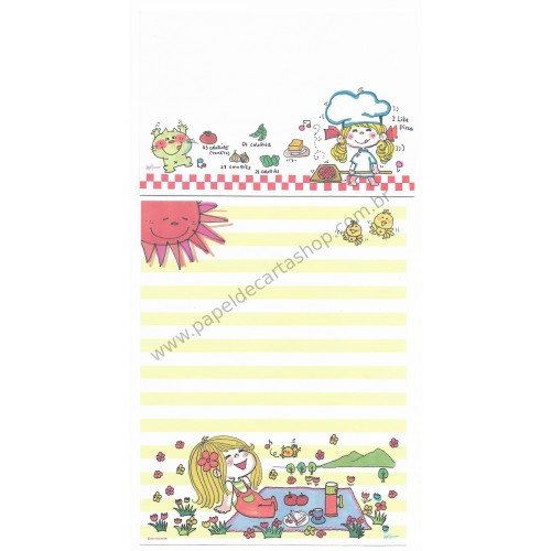 Conjunto de Papel de Carta com envelope ADO MIZUMORI 0020