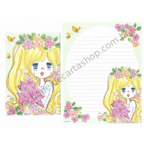 Conjunto de Papel de Carta com envelope ADO MIZUMORI 0022