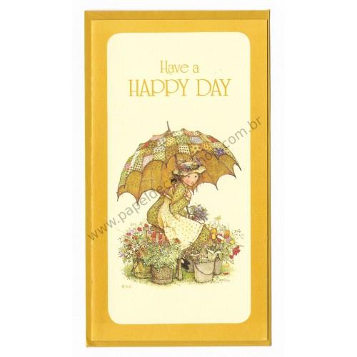 Notecard Antigo Holly Hobbie Have a Happy Day - American Greetings
