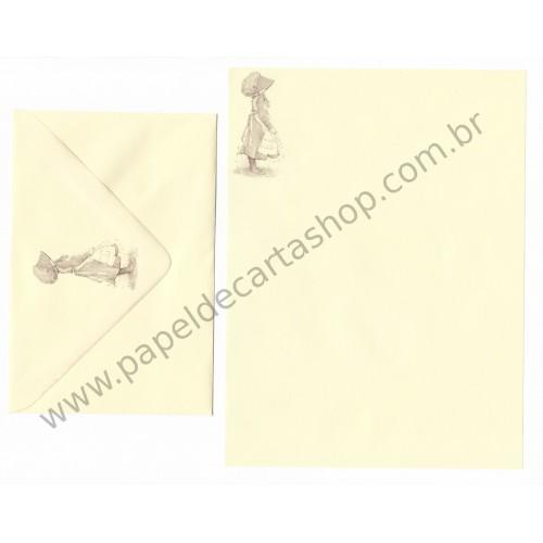 Conjunto de Papel de Carta ANTIGO Holly Hobbie M46
